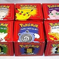 "RED Pokemon ""23k Gold Plated"" Burger King Cards Set of 6"