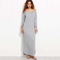 Long Shift T-shirt Maxi Dress For Ladies