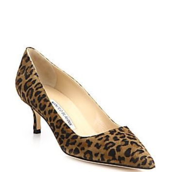 Manolo Blahnik - BB 90 Suede Point Toe Pumps