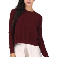 Burgundy Ribbed Sweater at Blush Boutique Miami - ShopBlush.com : Blush Boutique Miami – ShopBlush.com