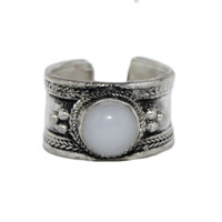 Adjustable Ring Moonstone Ring Boho Ring Tribal Ring Gypsy Ring