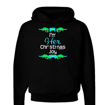 Her Christmas Joy Matching His & Hers Dark Hoodie Sweatshirt
