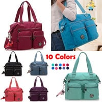 New Arrival 2016 New Women Shoulder Bag JQR Style Large Waterproof Nylon Monkey Ladies Shoulder Bags Fashion Shopping Totes