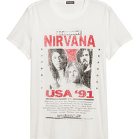Cotton jersey T-shirt - Natural white/Nirvana - Men | H&M CA