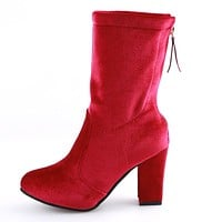 Flash Velvet Short Boots