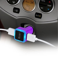 Reiko CAR CHARGER 2A5V DUAL USB CHARGER PURPLE
