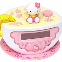 HELLO KITTY Digital AM/FM Clock Radio with Night Light