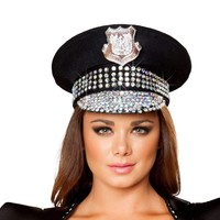 Roma Costume H4396 Studded Police Hat