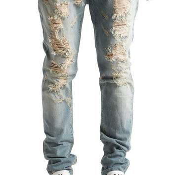 The Vignale Ripped Denim in Light Blue Wash