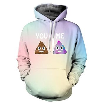 2016 New Harajuku Women/Men Hoodies Cute Emoji Print Pullover with Pocket Casual Long Sleeve Loose Sweatshirts Couples Tracksuit
