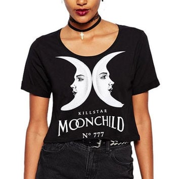 Black Twin Moon T-Shirt