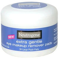 Neutrogena Eye Makeup Remover Large Plush Pads, Extra Gentle, 30 Count (Pack of 2)