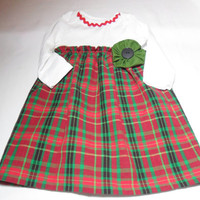 Baby  Dress , Christmas Onesuit Dress,  Bodysuit Dress, Holiday Baby Clothes