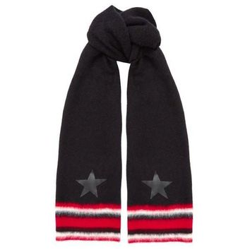 Star Striped Virgin Wool Scarf by Givenchy