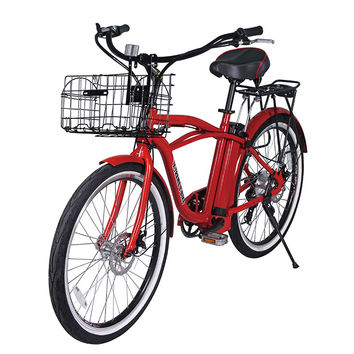 Newport Beach Cruiser  Electric Bicycle, Lithium Batteries -300 Watts Rear Hub Motor