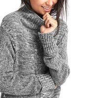 Plait cable knit mockneck sweater | Gap