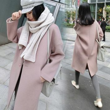 2017 Women Winter Coats Jackets Thick Winter Long Poncho Coats Wool Oversized High Quality Winter Long Coat Manteau Femme