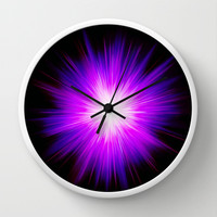 Violet flame by healinglove Wall Clock by Healinglove products