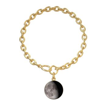 Personalized Moon Phase Gold Aurora Bracelet