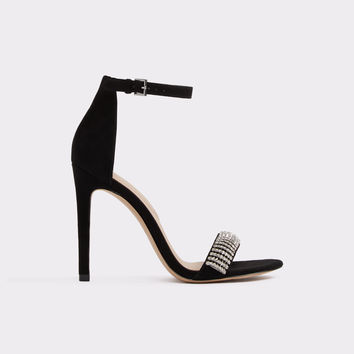 Larenna Midnight Black Women's Open-toe heels | Aldoshoes.com US