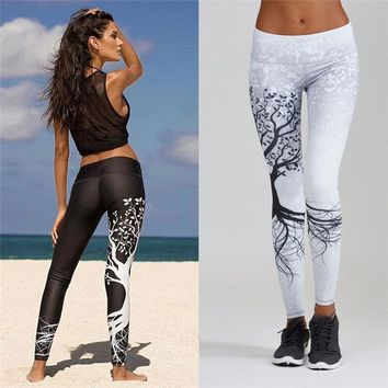 Women's Leggings Yoga Pants Women Printed Sports Yoga Workout Gym Fitness Exercise Athletic Pants