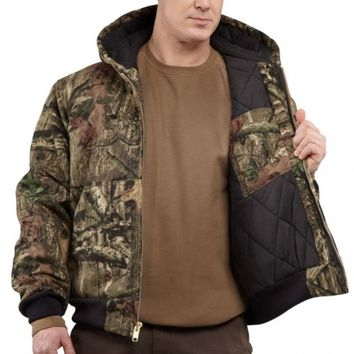 Carhartt Quilted-Flannel Lined Active Jacket J221 | Outerwear & Jackets | WorkwearUSA