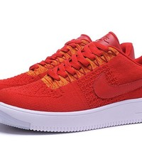 Nike Air Force 1 Red Running Shoes