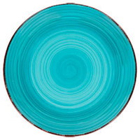 "Bulk Royal Norfolk Turquoise Swirl Stoneware Plates, 10½"" at DollarTree.com"