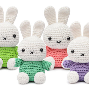 Miffy Bunny Handmade Amigurumi Stuffed Toy Knit Crochet Doll VAC