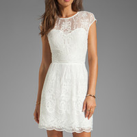 Dolce Vita Kloey Silk Embroidery Dress in Snow from REVOLVEclothing.com