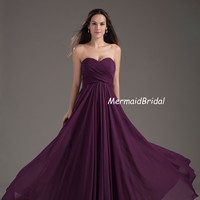 2013 Sweetheart neckline Grape Long Prom gonws, Evening dresses, Party dresses, Bridesmaid dresses