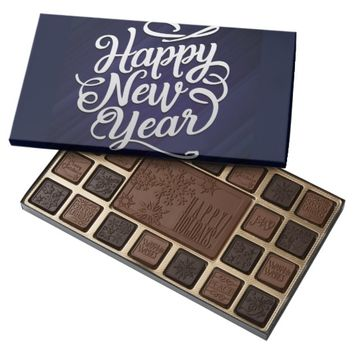 Happy New Year 45 Piece Box Of Chocolates