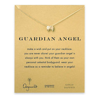 """Dogeared Guardian Angel Angel Wings 16"""" Gold Dipped Necklace"""