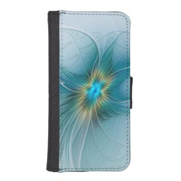 The little Beauty, Abstract Fractal Art with blue Wallet Phone Case For iPhone SE/5/5s