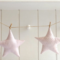 STAR Garland / BABY's Room Decor / Modern Nursery / Baby Shower Decor / Girls / Kids / Children's Room Decor / Bunting / Dusty Pink / CUSTOM