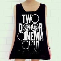 Two Door Cinema Club Logo Punk Rock Music Unisex Art Vest shirt Tank Top Free Size
