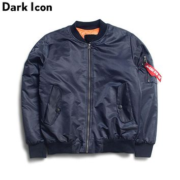 Color Men Bomber Jackets Winter Cotton Padded Thick Pilot Jackets Men Warm Blank Hip Hop Jacket Men's Clothing