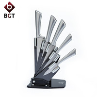 5pcs Stainless Steel Hollow Handle Kitchen Knives Set Kitchen Knife Vegetable Fruits Dicer Food Slicer Chef Bread Paring Knives