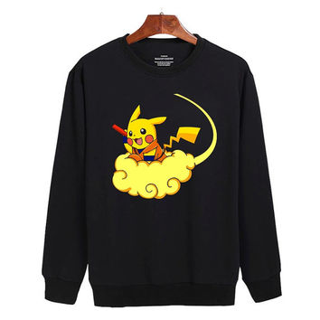 pokemon pikachu dragon ball Sweater sweatshirt unisex adults size S-2XL