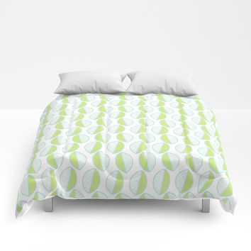 Summer Modern Leaves Comforters by Inspire Your Art
