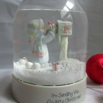 Precious Moments Enesco Collection Waterdome Ball Globe Im Sending You A White Christmas