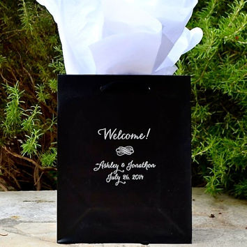 60 Personalized Wedding Hotel Welcome Bags