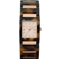 Michael Kors Mini-Size Tessa Three-Hand Watch, Tortoise/Golden - MK4257