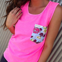 Flower Power Pocket Tank | The Rage