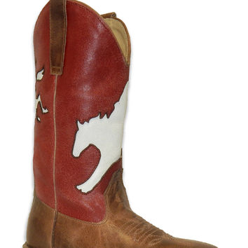 Roper Kids Boot Western Sq Toe Leather Fashion Boots Bronc Rider Underlay Shaft