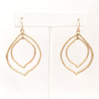 Back Woods Dangle Earrings In Gold