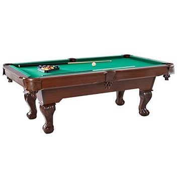 "BARRINGTON Springdale 90"" Claw Leg Billiard Table Set with Cues Rack Balls and Chalk (22 Pieces)"