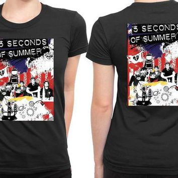 DCCKL83 5Sos Tour Roadshow Poster 2 Sided Womens T Shirt