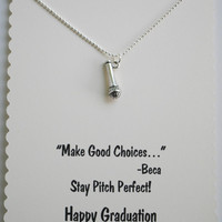 Pitch Perfect Graduation Card with Microphone Necklace