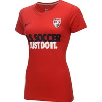 Nike Women's U.S. Soccer Just Do It Red T-Shirt